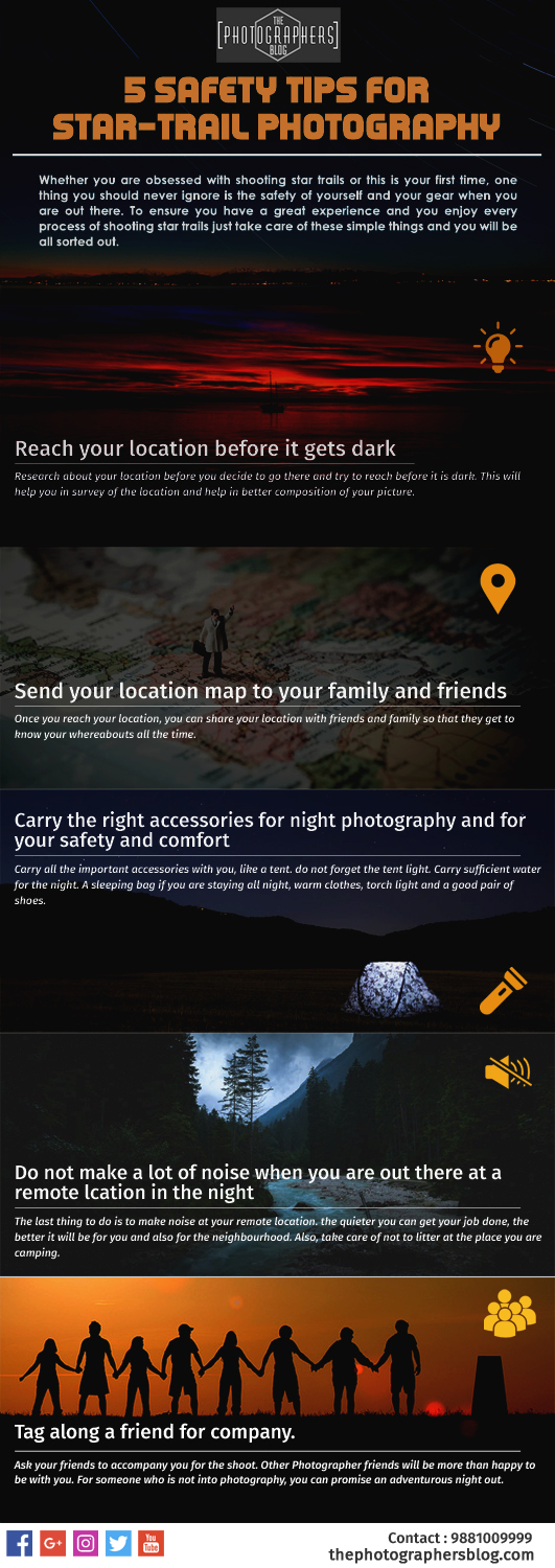 Safety Tips and Settings for Star trail Photography | The
