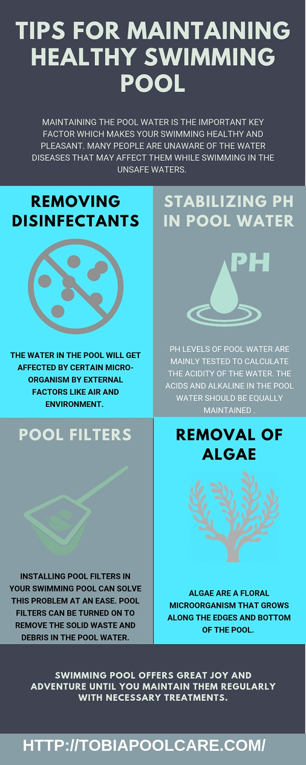 Tips for Maintaining Healthy Swimming Pool | Latest Infographics