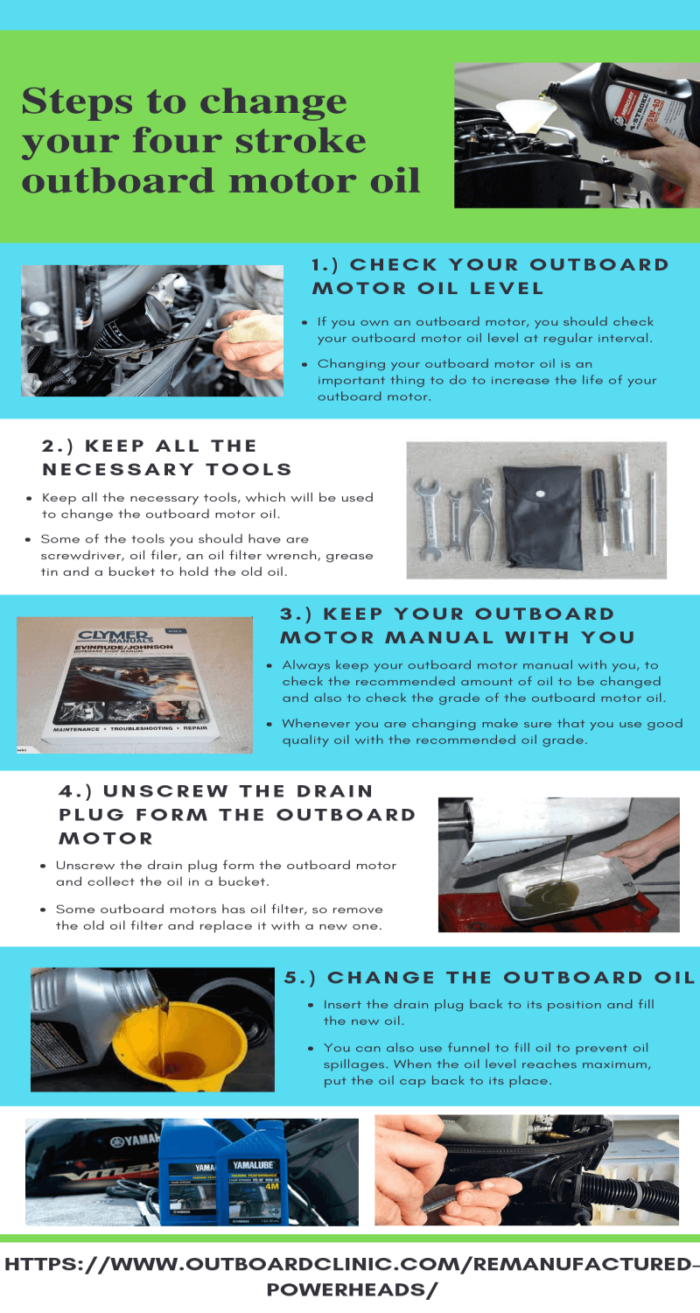 Steps to change your four stroke outboard motor oil   Latest