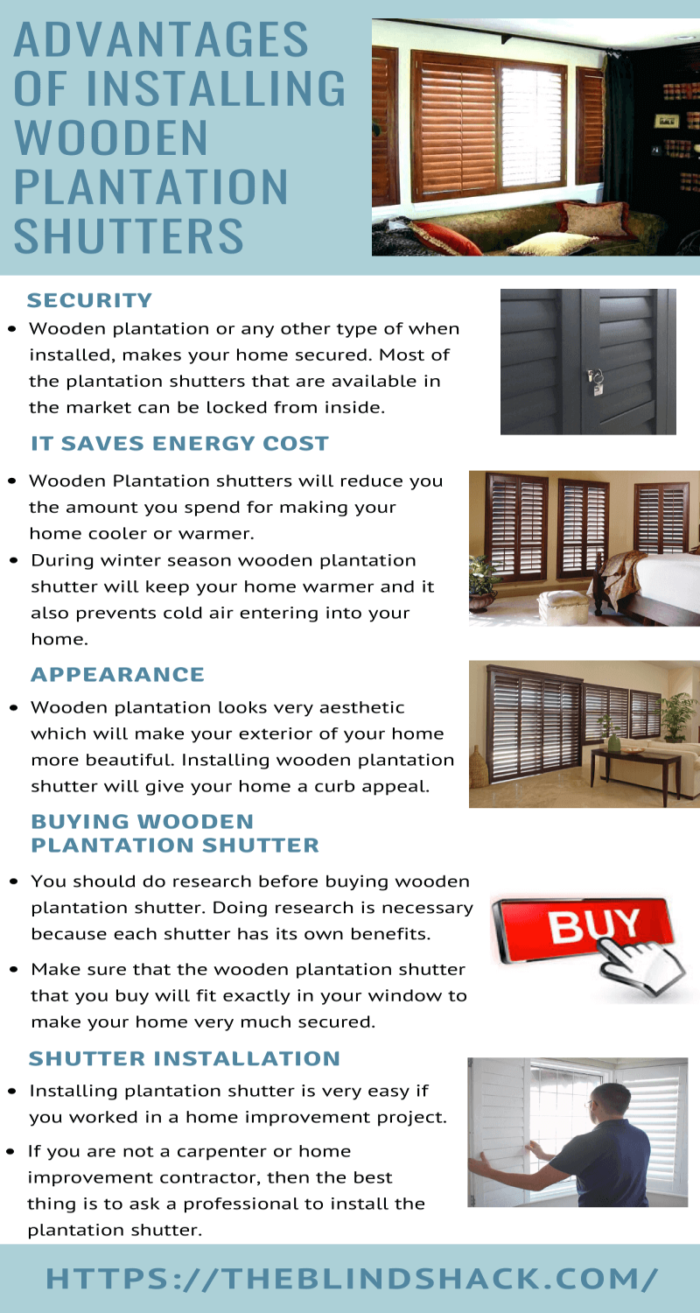 Advantages Of Installing Wooden Plantation Shutters Latest